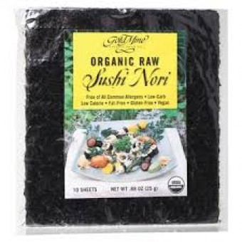 Groceries - Organic - Raw Sushi Nori (Pack of 10 Sheets) 25g - GOLD MINE