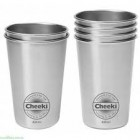 Groceries - Drink Containers - Stainless Steel Cups Twin Pack 2 x 420ml- CHEEKI