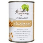 Groceries - Organic - Beans - Chickpeas 400g tin Global Organics