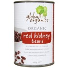 Groceries - Organic - Beans - Red Kidney Beans 400g tin Global Organics