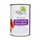 Groceries - Organic - Tomatoes Whole Peeled  400g tin Global Organics