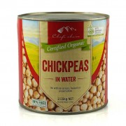 Groceries - Organic - Beans - Chickpeas 2.55kg tin  water - Organic Chefs Choice