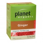 Organic - Drinks - Tea - Planet Organic - Ginger Tea Bags - 25 bags - 30g