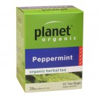 Organic - Drinks - Tea - Planet Organic - Peppermint - 25 tea bags - 28g