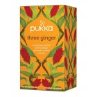 Organic - Drinks - Tea - Pukka - Three Ginger- 20 Herbal Tea Sachet - 35g
