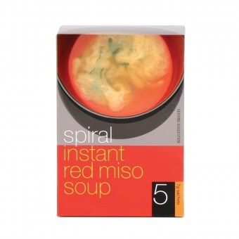 Groceries - Organic - Instant Red Miso Soup - 5 serves - 7g each serve -Spiral