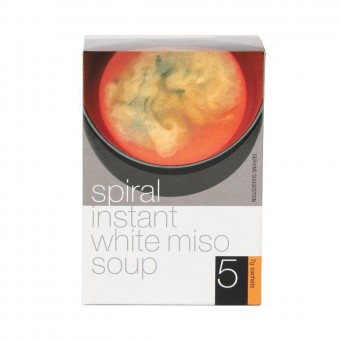 Groceries - Organic - White Instant Miso Soup - 5 serves - 7g each - Spiral