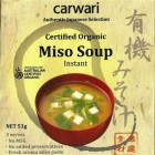 Groceries - Organic - Instant Miso Soup - 3 serves - Carwari
