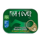 Groceries - Fish - Mackerel - Fillets in Organic Sunflower Oil - 118g - Fish 4 Ever