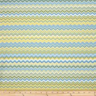 Groceries - Eco Friendly Re-usable Bag - Zip-it 15 - Yellow Aqua Chevron