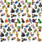 Groceries - Eco Friendly Re-usable Bag - Zip-it 25 - Lego Figurines